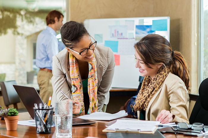 diverse businesswomen