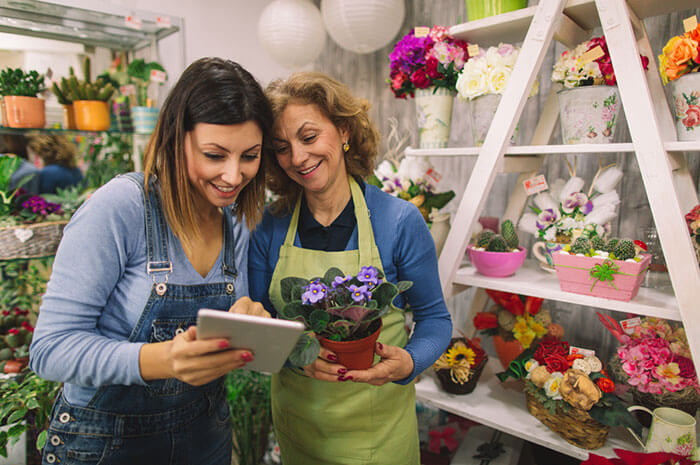 mother daughter flowers business