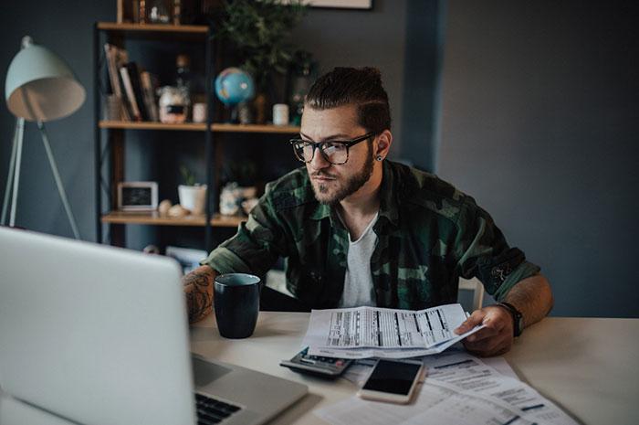 paying bills online