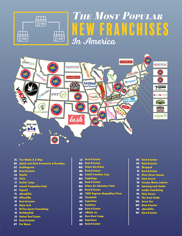 Map Of The Most Popular Franchises In Every State